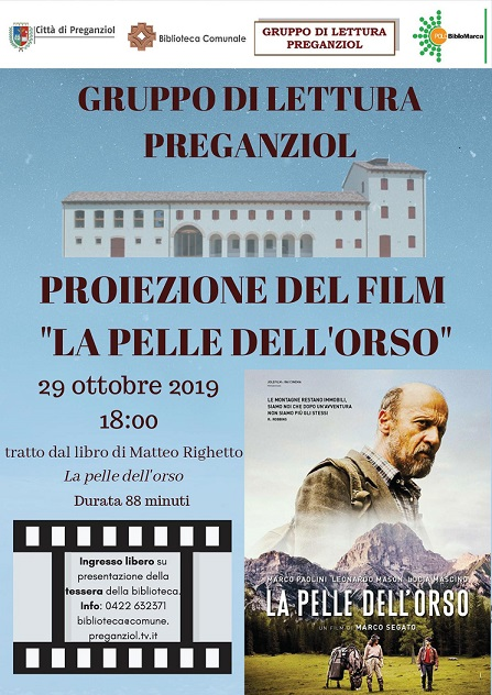 Proiezione del film LA PELLE DELL'ORSO