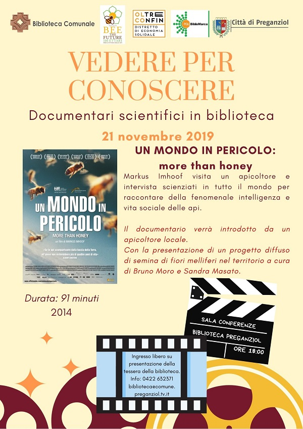 Documentari scientifici in Biblioteca: UN MONDO IN PERICOLO more than honey