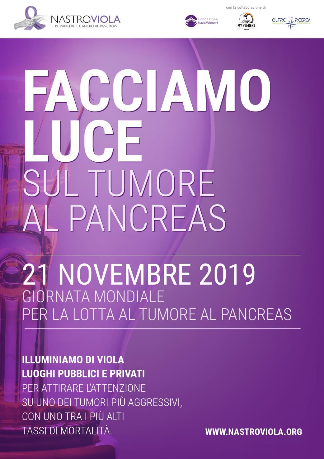 21 novembre 2019 Giornata mondiale per la lotta al tumore al pancreas