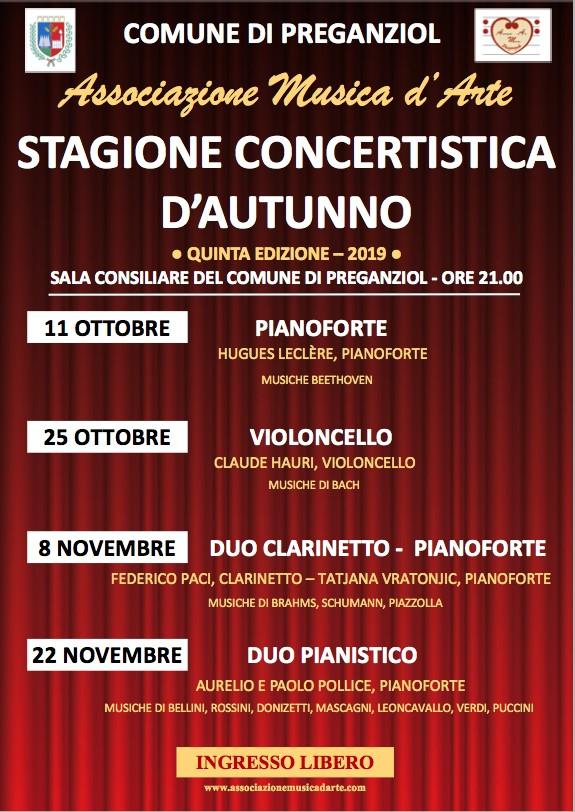 Stagione concertistica d'autunno – Venerdì 6 novembre 2020: DUO FLAUTO-ARPA