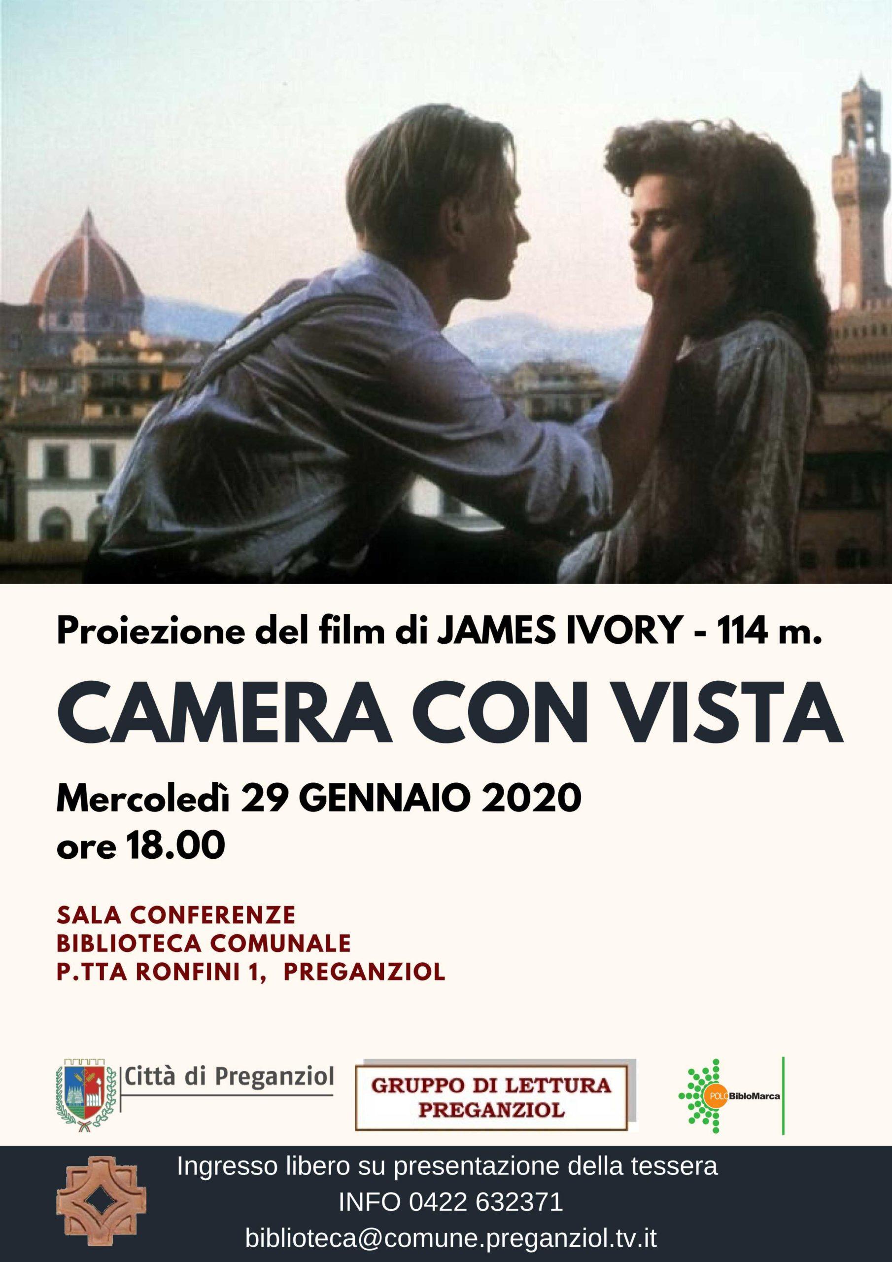 Proiezione del film CAMERA CON VISTA di James Ivory