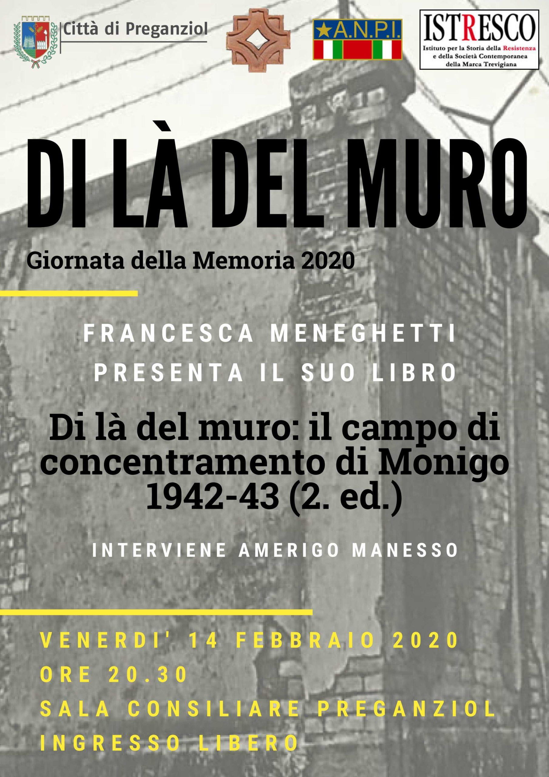 """Presentazione del libro """"Di là del muro. Il campo di concentramento di Monigo 1942-1943"""""""