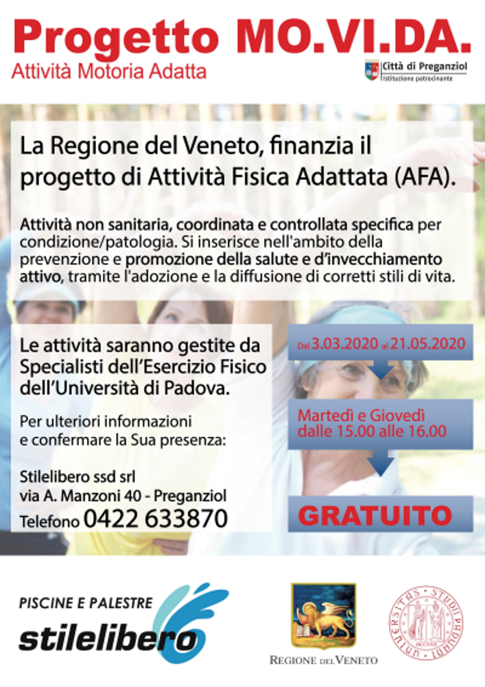 Progetto di Attività Fisica Adattata MO.VI.DA.