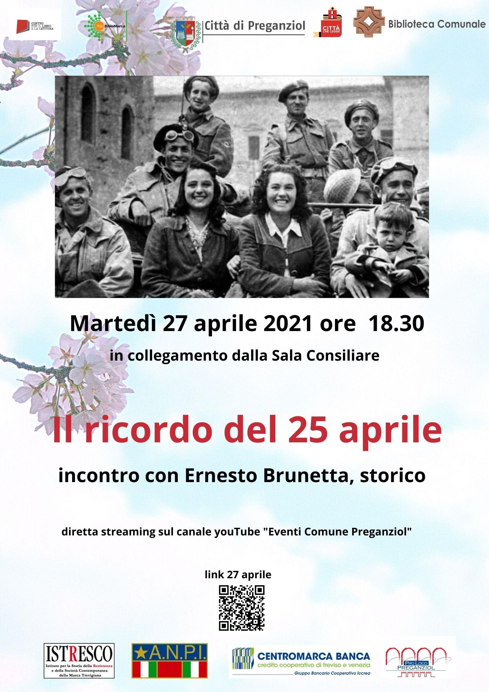 Il ricordo del 25 aprile – incontro con Ernesto Brunetta