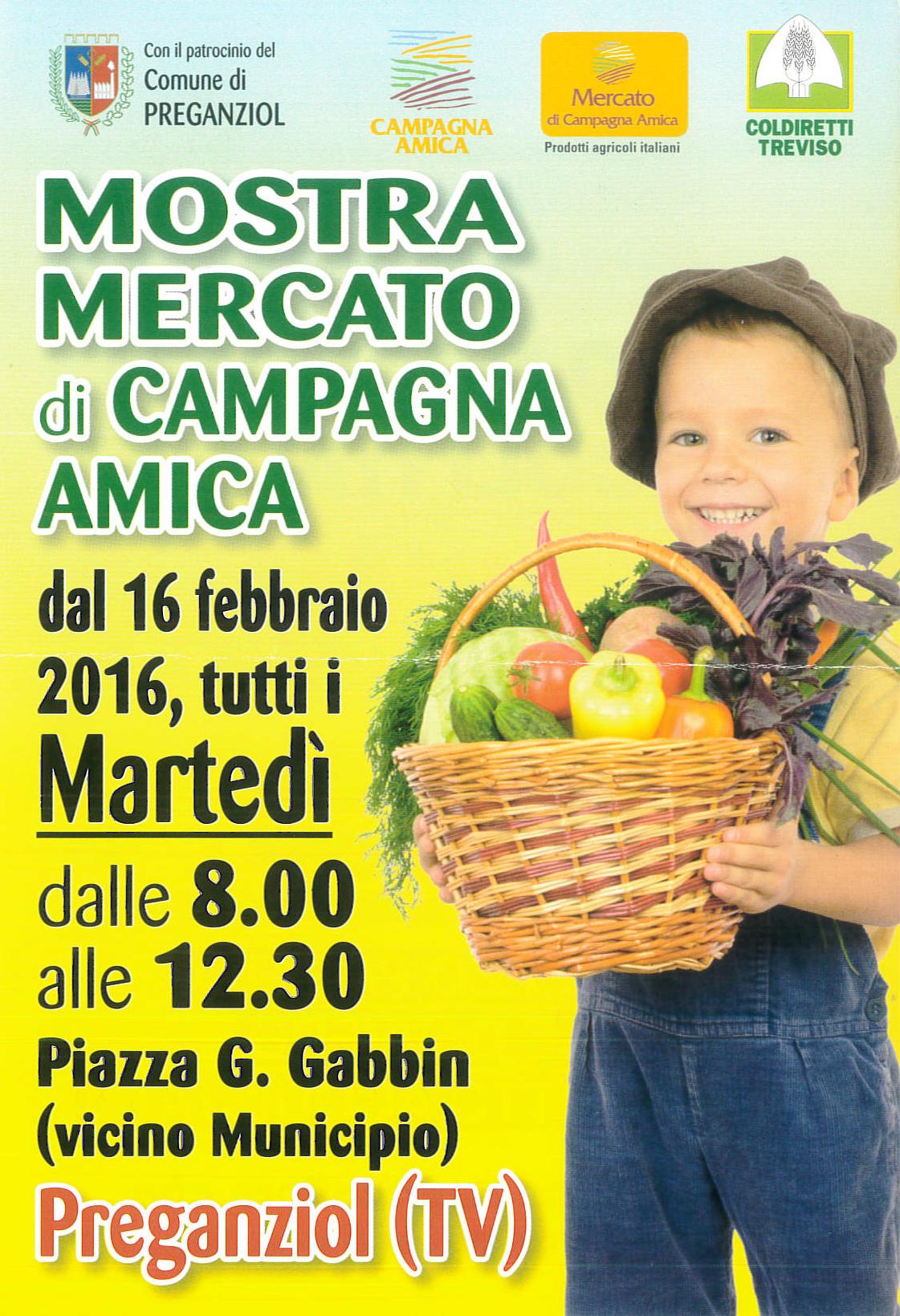SOSPENSIONE MERCATO AGRICOLO martedì 6 Aprile 2021