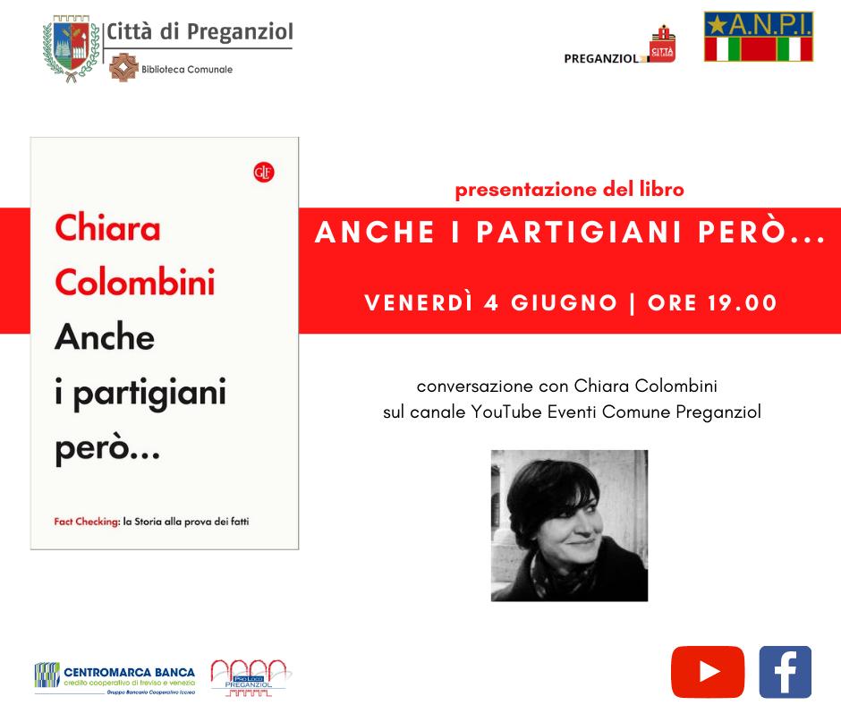 """Presentazione del libro """"Anche i partigiani però…"""" di Chiara Colombini – Venerdì 4 giugno ore 19.00"""