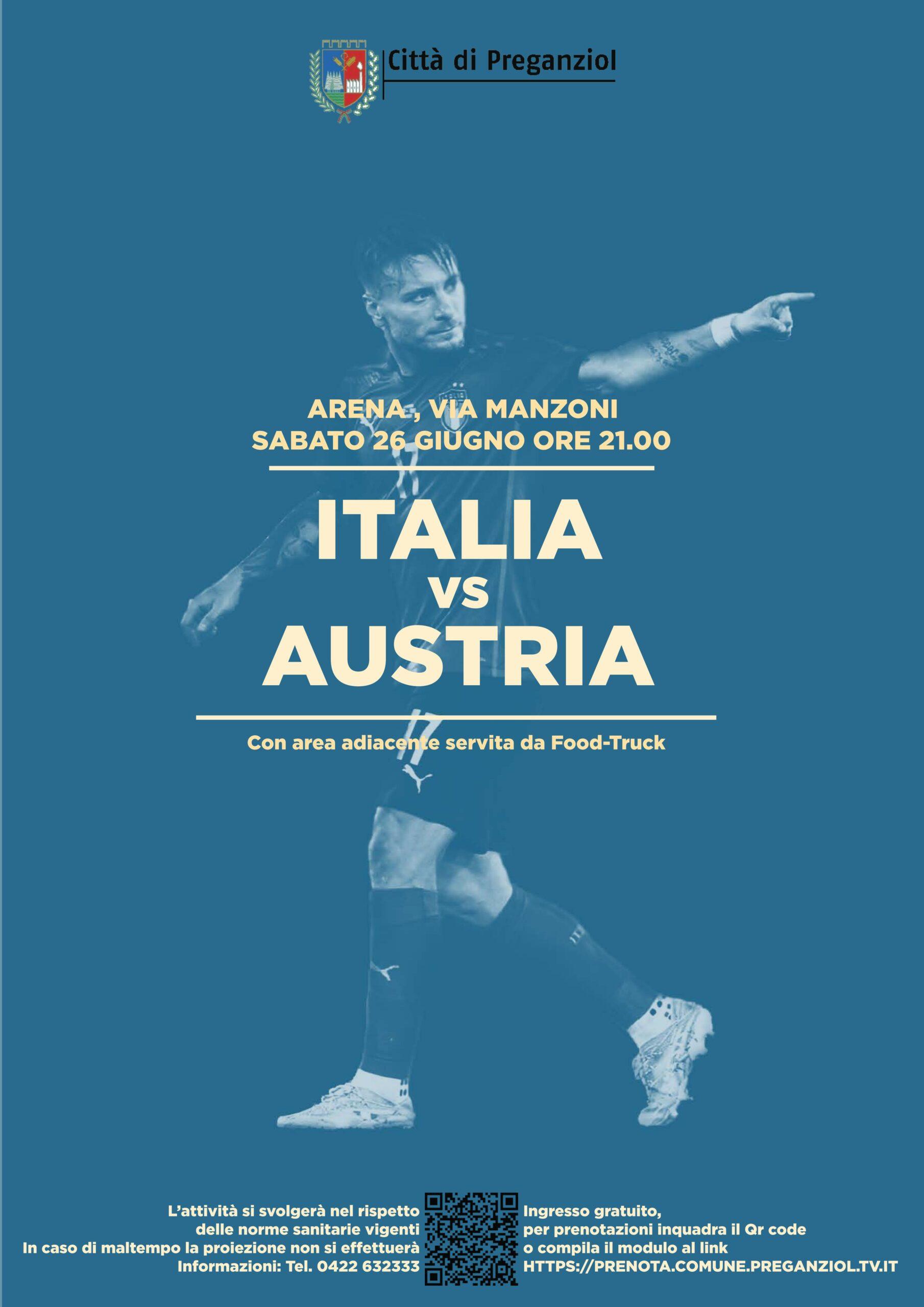 EURO 2020 – EUROPEI DI CALCIO …. IN ARENA – ITALIA VS AUSTRIA