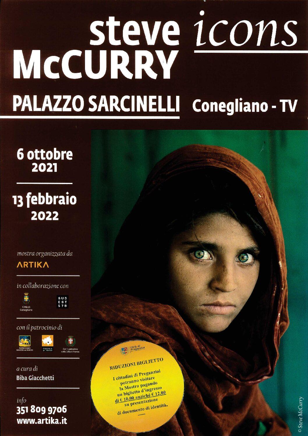 Mostra fotografica Steve Mc Curry ICONS a Palazzo Sarcinelli: ingresso a prezzo ridotto per i Cittadini di Preganziol